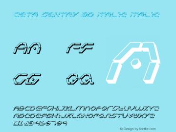 Zeta Sentry 3D Italic