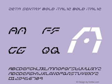 Zeta Sentry Bold Italic