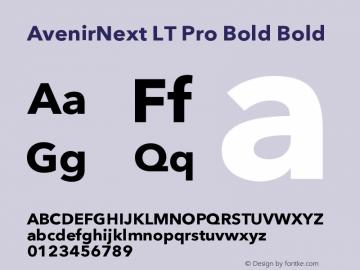 AvenirNext LT Pro Bold