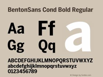BentonSans Cond Bold