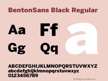 BentonSans Black
