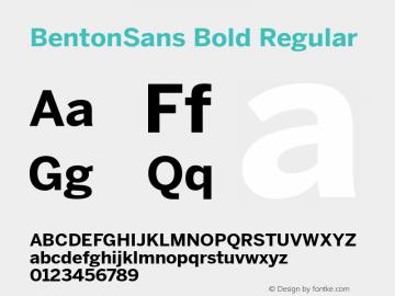 BentonSans Bold