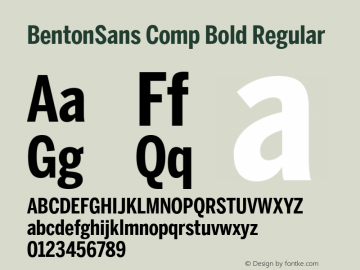 BentonSans Comp Bold