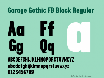 Garage Gothic FB Black