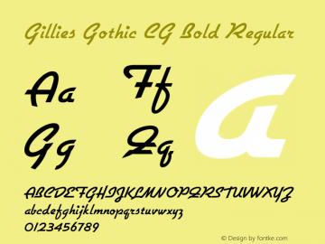 Gillies Gothic CG Bold