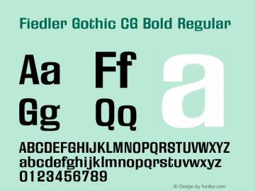 Fiedler Gothic CG Bold