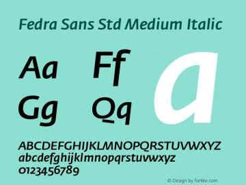 Fedra Sans Std Medium