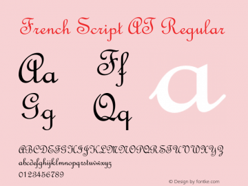 French Script AT