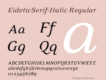 EideticSerif-Italic