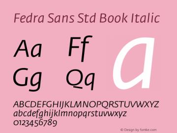 Fedra Sans Std Book