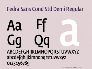 Fedra Sans Cond Std Demi