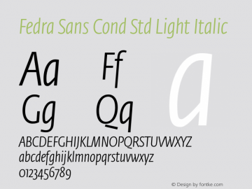 Fedra Sans Cond Std Light