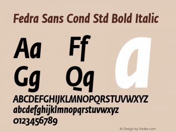 Fedra Sans Cond Std Bold