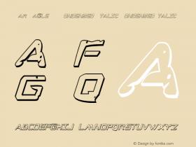War Eagle 3D Condensed Italic