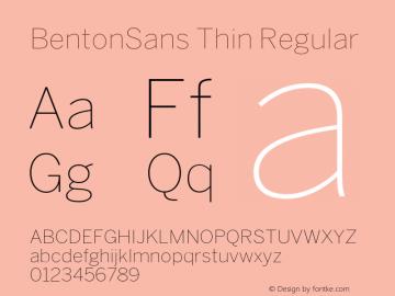 BentonSans Thin