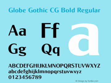 Globe Gothic CG Bold