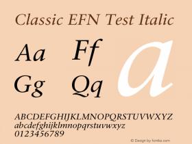 Classic EFN Test
