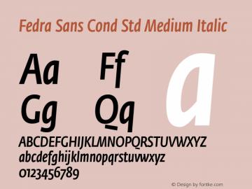 Fedra Sans Cond Std Medium