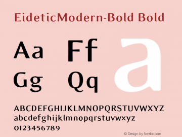 EideticModern-Bold