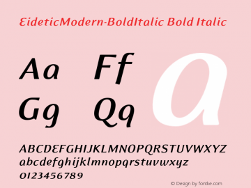 EideticModern-BoldItalic
