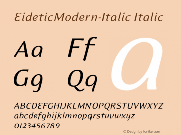 EideticModern-Italic