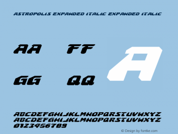 Astropolis Expanded Italic