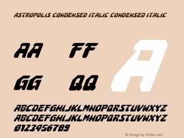 Astropolis Condensed Italic