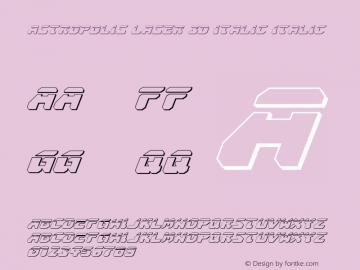 Astropolis Laser 3D Italic
