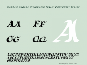 Wars of Asgard Condensed Italic