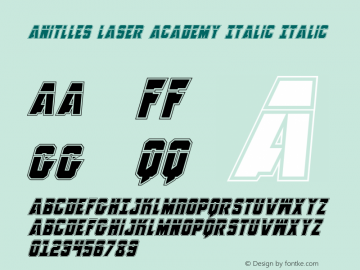 Anitlles Laser Academy Italic
