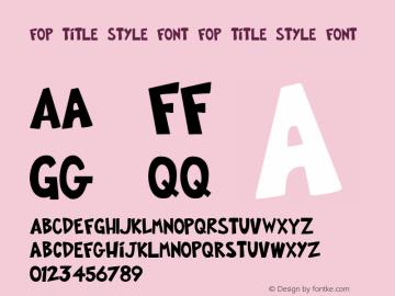 FOP Title Style Font