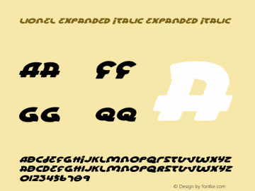 Lionel Expanded Italic