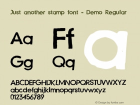 Just another stamp font