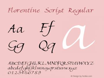 Florentine Script