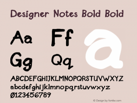 Designer Notes Bold