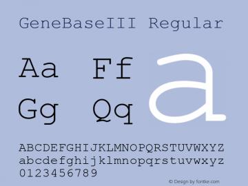 GeneBaseIII