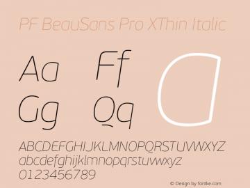 PF BeauSans Pro XThin