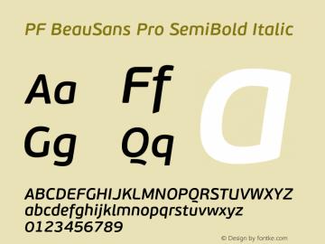 PF BeauSans Pro SemiBold