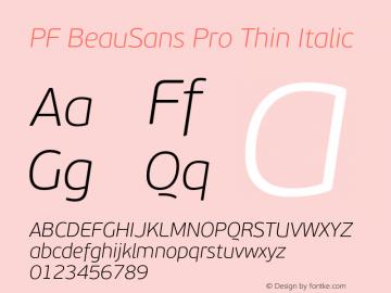 PF BeauSans Pro Thin