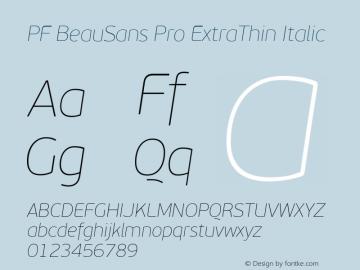 PF BeauSans Pro