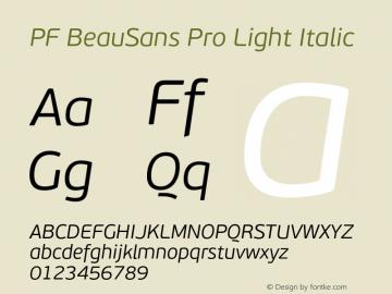 PF BeauSans Pro Light