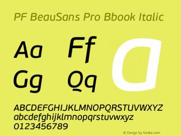 PF BeauSans Pro Bbook