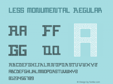 less monumental