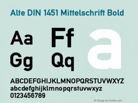 Alte DIN 1451 Mittelschrift