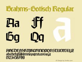 Brahms-Gotisch