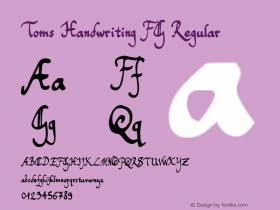 Toms Handwriting FG