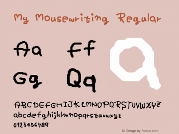 My Mousewriting