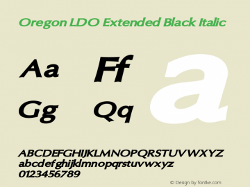 Oregon LDO Extended Black