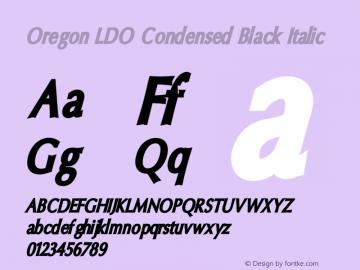 Oregon LDO Condensed Black