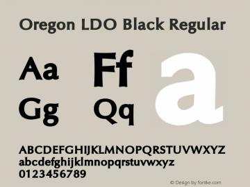 Oregon LDO Black